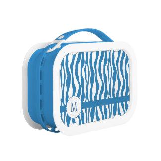 Blue Zebra Print Yubo Lunchbox