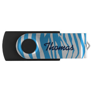 Blue Zebra Stripe USB Drive