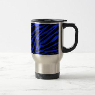 blue zebra travel mug