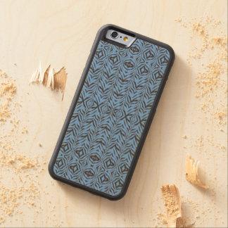 Blue Zebra - Wood Inlay Phone Case