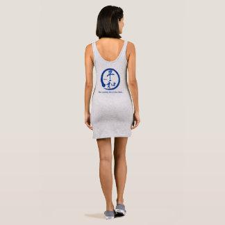 Blue zen circle • Kanji symbol for peace Sleeveless Dress