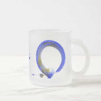 Blue Zen Enso Frosted Glass Coffee Mug