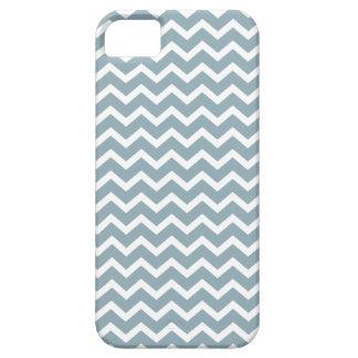 Blue Zig Zag Chevrons Pattern iPhone 5 Case