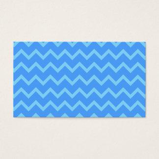 Blue Zig Zag Pattern. Business Card