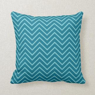 Blue zig zag pattern pillow. Pop art pillow