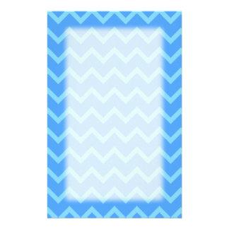 Blue Zig Zag Pattern. Stationery