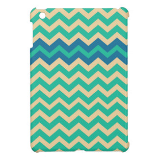 Blue Zigzag Border Cover For The iPad Mini