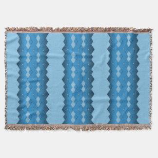 Blue Zigzag Throw Blanket