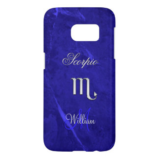 Blue Zodiac Sign Scorpio Galaxy S7 Case