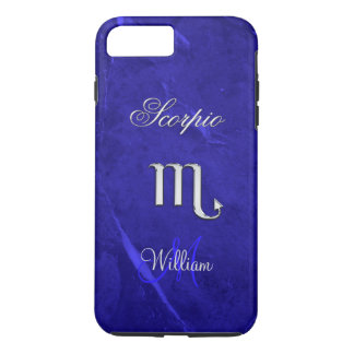 Blue Zodiac Sign Scorpio iPhone 7 Plus Case