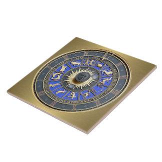 Blue Zodiac Wheel Tile