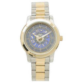 Blue Zodiac Wheel Watch