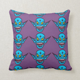 blue zombie troll demon pillow