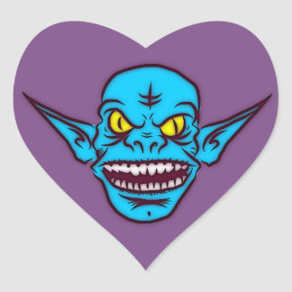 blue zombie troll demon stickers