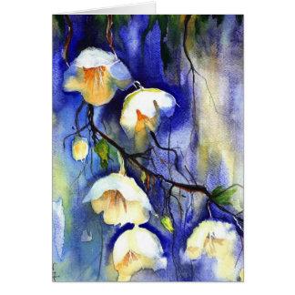 blueandwhite umbrellas from heaven card