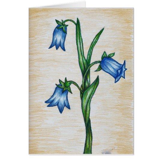 Bluebell Flower Card