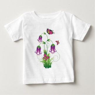 Bluebell Flower with Leaves Baby T-Shirt