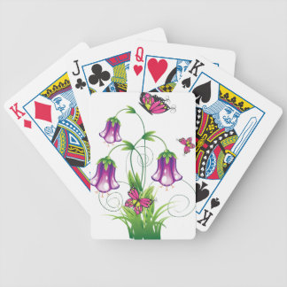 Bluebell Flower with Leaves Bicycle Playing Cards