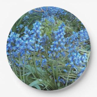 Bluebell Garden Floral Paper Plate