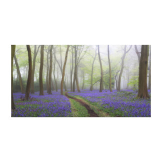 Bluebell Path Canvas Print