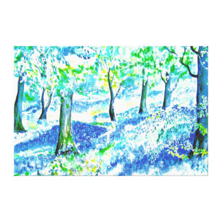 Bluebell Wood. Canvas Print
