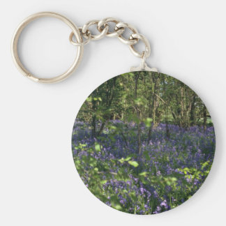 Bluebell Woods  flowers Keychain