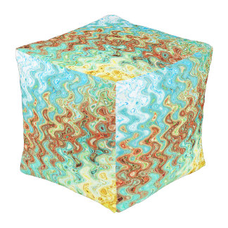 Bluebell & Yarrow Outdoor Cubed Pouf