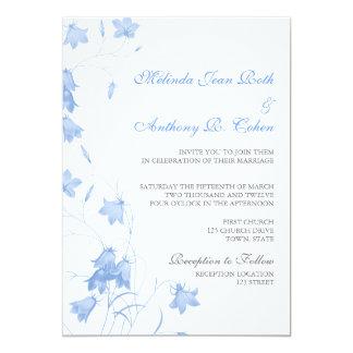 "Bluebells - Blue 5x7 Wedding Invitation 5"" X 7"" Invitation Card"