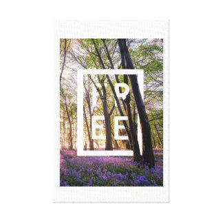 Bluebells Free Canvas Print