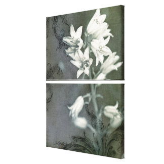 Bluebells in Black & White Canvas Print