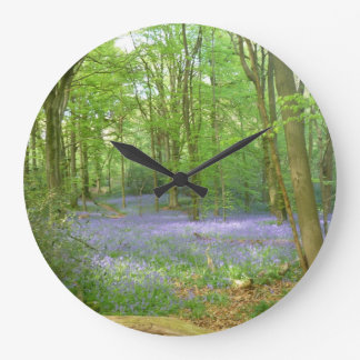 Bluebells in Woods Clock