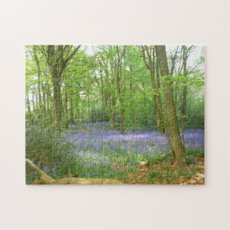 Bluebells in Woods Jigsaw Puzzle