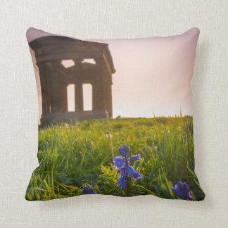 Bluebells on Penshaw Monument Pillow/Cushion Throw Pillow