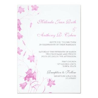 Bluebells - Violet 5x7 Wedding Invitation