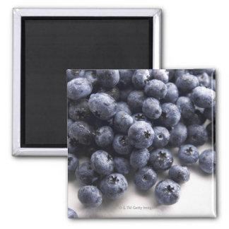 Blueberries 2 square magnet