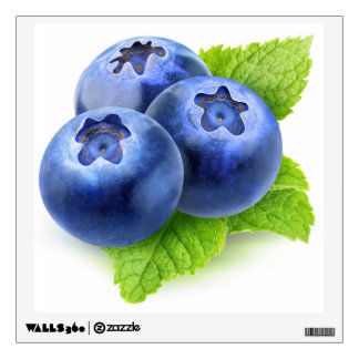 Blueberries and mint wall sticker