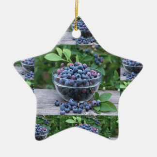 Blueberries Chefs healthy cuisine Breakfast Salads Ceramic Star Ornament