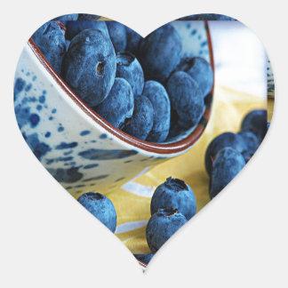 Blueberries chefs healthy diet cuisine salads heart sticker
