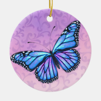 Blueberries & Cream Monarch Butterfly Ornament