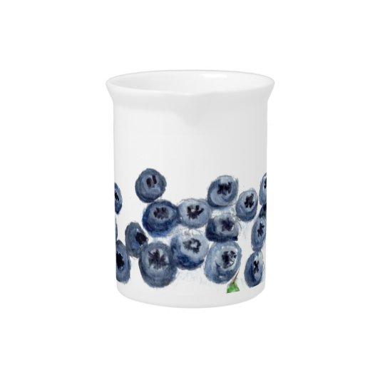 Blueberries fruits kitchen decor pitcher