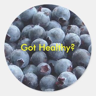 blueberries, Got Healthy? Round Sticker