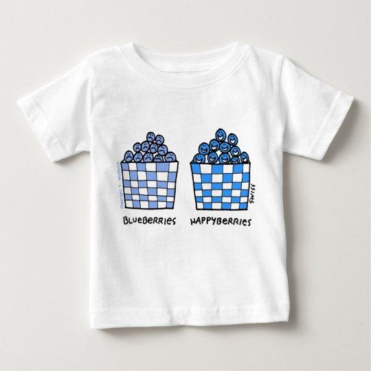 Blueberries Happyberries Cartoon Funny Baby Baby T-Shirt