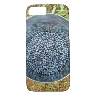 Blueberries in a Bucket on Iphone Case