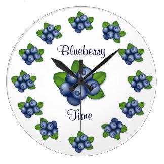 Blueberries Large Clock