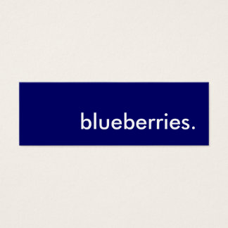 blueberries. mini business card