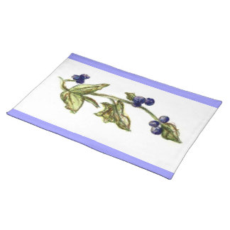Blueberries On Vine American MoJo Placemat