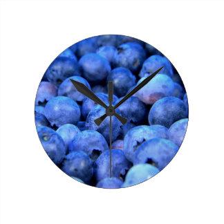 Blueberries Round Clock