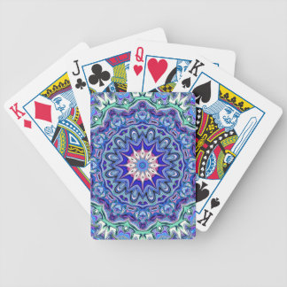 Blueberry and Mint Mandala Playing Cards