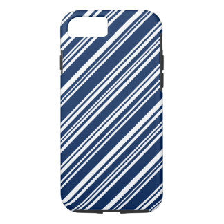 Blueberry and White Candy Stripes iPhone 8/7 Case
