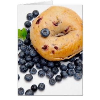 Blueberry Bagel Card